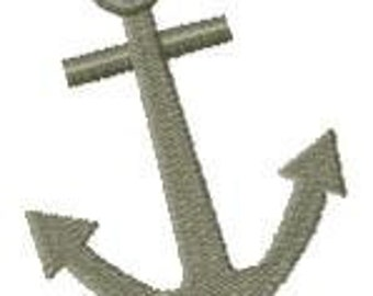 Anchor Embroidery Design - Instant Download
