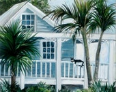 """Painting of Key West cottage, """"Southern Charm"""""""