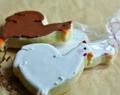 Hen - Chicken Decorated Sugar Cookies - Barn - Farm Animal Edibles