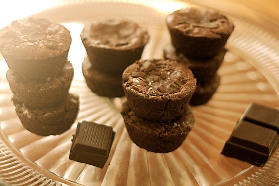 Dark Chocolate Browned Butter Brownie Buttons