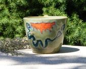 Turquoise Jade Serpent Mound Stoneware Mug