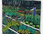 MY GARDEN print of bead painting