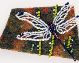 DRAGONFLY bead & felt pin kit