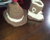 Cowboy hat and boots