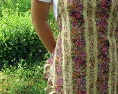 Full Apron Reversible - Tuscan Gold Floral