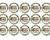 Support Our Troops Bottle Cap Images 4x6 Printable Bottlecap Collage INSTANT DOWNLOAD