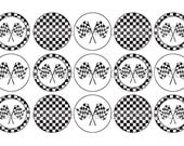 Checkered Flags Backgrounds Bottle Cap Images 4x6 Printable Bottlecap Collage INSTANT DOWNLOAD