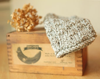 Hand Knit Baby Washcloth