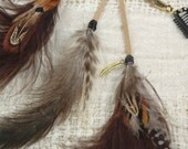 4th of July SALE-TRIO - Feather Hair Clip