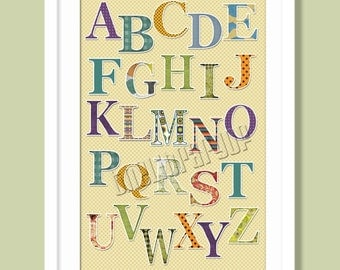 Adorable Alphabet Poster - Room Decoration - Learning Tool