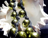 Olive green necklace