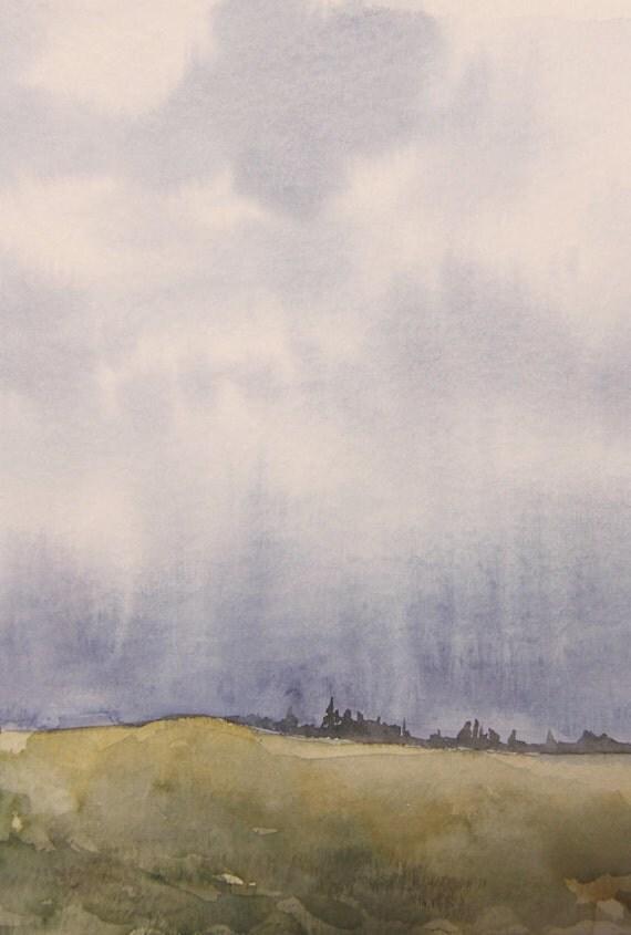 rain (original watercolor)