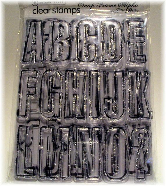 Basic Block Capital ALPHABET Letters Acrylic STAMP Set NIP