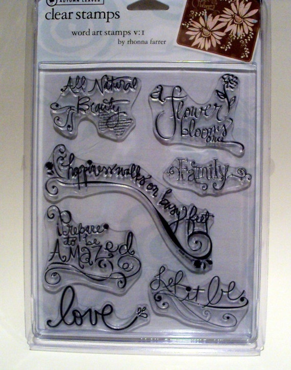 Word Art Clear Stamp Set