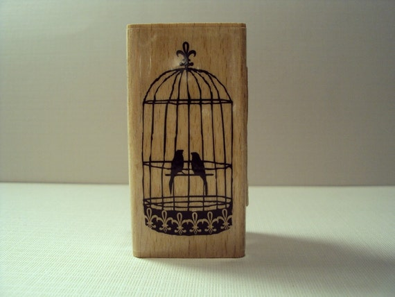 Love Birds Wooden Mounted Rubber Stamping Block DIY cards, scrapbooking, tags, Greeting Cards, and Scrapbooking