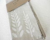 Modern, Rustic, Primitive, Hand Printed Cloth Napkins