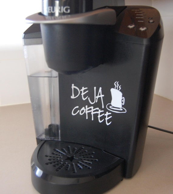 Decorative Vinyl Decals for your Keurig or Any Full-Size