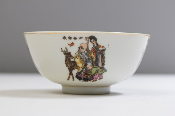 Chinese ceramic bowls (set of 5 with spoons)