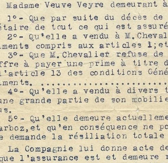1920s Antique French Letter - vintage French ephemera