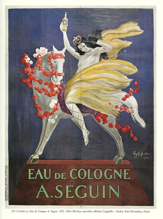 BEAUTY, PERFUME- Vintage French color advertisement poster - 1920s - art deco