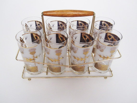 Vintage Barware Set- Butterfly