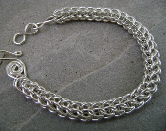 Persian Chainmaille Bracelet in Sterling Silver