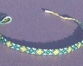 Custom Alternating Diamonds Skinny Friendship Bracelet
