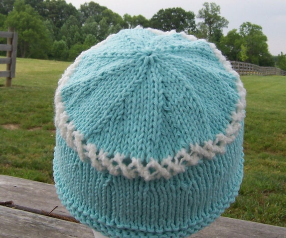 Knit Hat Sleep Cap Chemo Child Cotton Yarn Soft and Warm Donation to Cancer Society