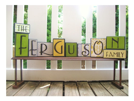 Personalized Home Decor YOUR FAMILY'S NAME Any Color