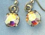 Swarovski Crystal Earrings Iridescent Aurora Borealis Elegant Bridal Dangle Earrings Bridal Wedding Bridesmaid Jewelry