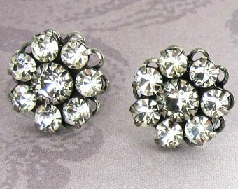 Crystal Post Earrings Swarovski Flowers Bridal Wedding Bridesmaid Jewelry