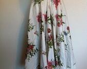 1950's Floral summer circle skirt
