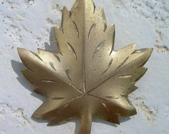 Maple Leaf Pin Sterling Silver