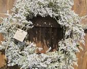 Dried German Statice Wreath