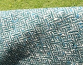 Pendleton Vintage Blue Herringbone Wool Fabric