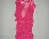 On Sale...READY TO SHIP Bubblegum Pink Lace Petti Romper