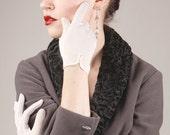 Vintage White Fishnet Gloves
