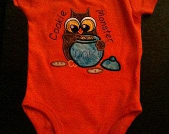 Cookie Monster Owl Onesie
