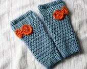 Crochet Leg Warmers Under the Sea