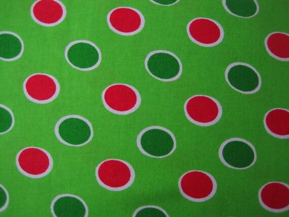 Fabulous Green Dot Christmas Fabric