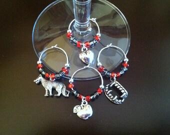 Vampire and Werewolf Wine Charms
