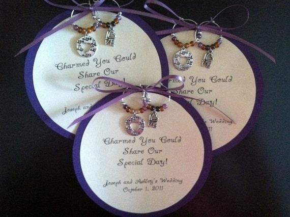 items similar to custom wine charm favors on etsy