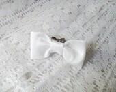 Large White Bow Ring