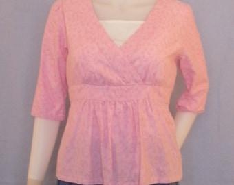 Everyday Elegance Shirt--- Nursing shirt, MAternity Shirt, Modest, Cotton--- Custom Made