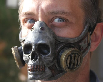 Steampunk, diesel punk Skull gas mask accessory cosplay fetish Larp latex On Sale Now  25% off!!