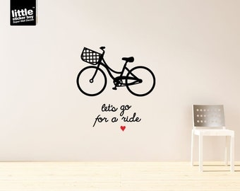 Let's Go For A Ride Wall Sticker Decal
