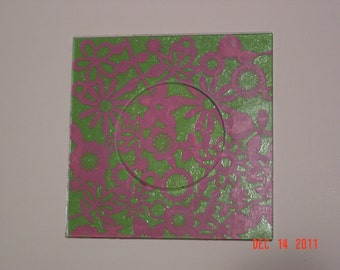 Flowered Fun in Pink and Green