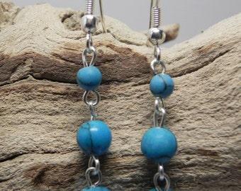 Turquoise Semi-Precious Dangle Earring