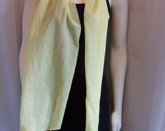 Light Yellow Springy Scarf