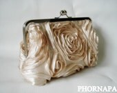 Custom listing for Desiree  Set of 4 The Romantic Rosette Champagne Clutch